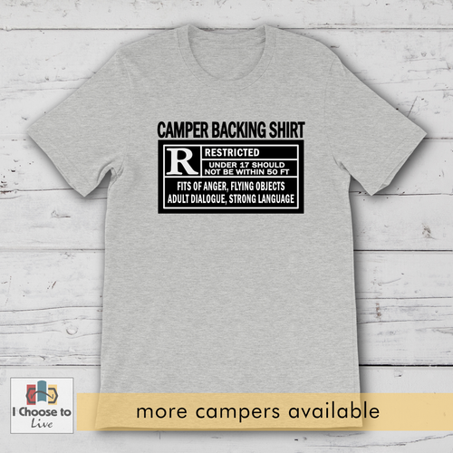 Camper & RV Backing t-shirt [product_color] - Common Connection