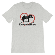 Load image into Gallery viewer, Flames to Hope T-shirt [product_color] - Common Connection