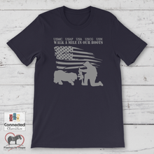 Load image into Gallery viewer, Walk A Mile In Our Boots 2019 T-shirt [product_color] - Common Connection