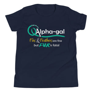 Alpha-gal Awareness - Fur is Fatal - Kids Short Sleeve Shirt [product_color] - Common Connection
