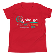 Load image into Gallery viewer, Alpha-gal Awareness - It Changes Your Life - Kids Short Sleeve Shirt [product_color] - Common Connection