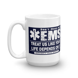 Grumpy Old Medic - EMS Motto - Mug [product_color] - Common Connection