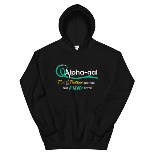 Alpha-gal Awareness - Fur is Fatal -  Hoodie [product_color] - Common Connection