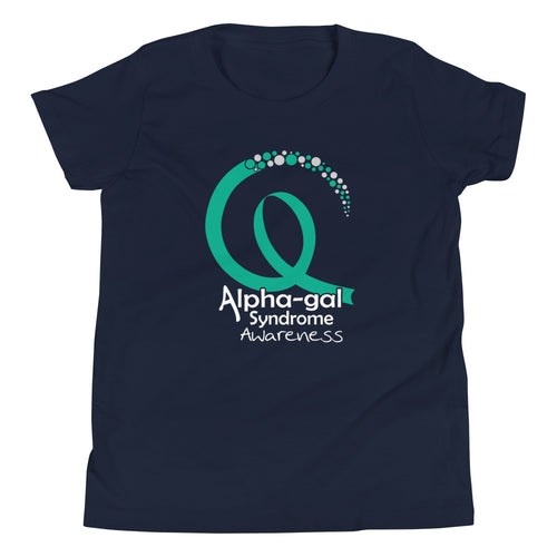 Alpha-gal Awareness Ribbon 2 - Kids Short Sleeve Shirt [product_color] - Common Connection
