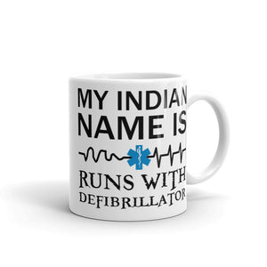 EMS - Runs With Defibrillator - Mug [product_color] - Common Connection