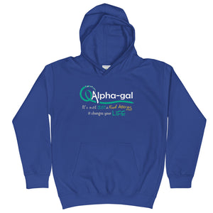 Alpha-gal Awareness - It Changes Your Life - Kids Hoodie [product_color] - Common Connection