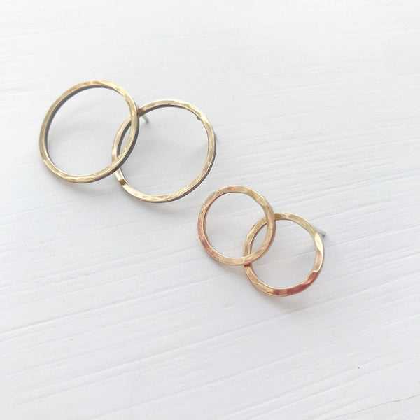 Brass Open Circle Studs-Earrings-Betina Roza