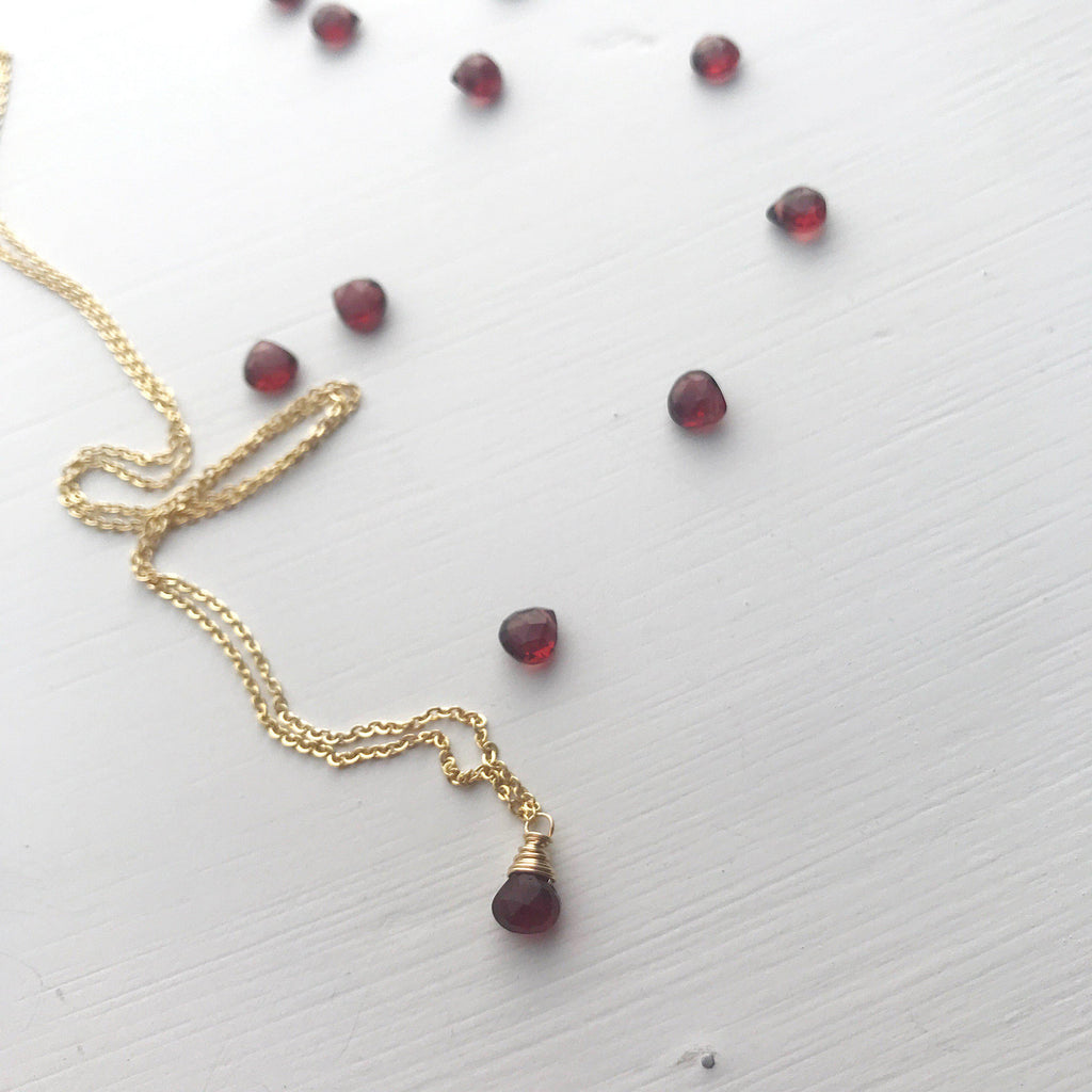 Capricorn Birthstone Necklace-Necklace-Betina Roza