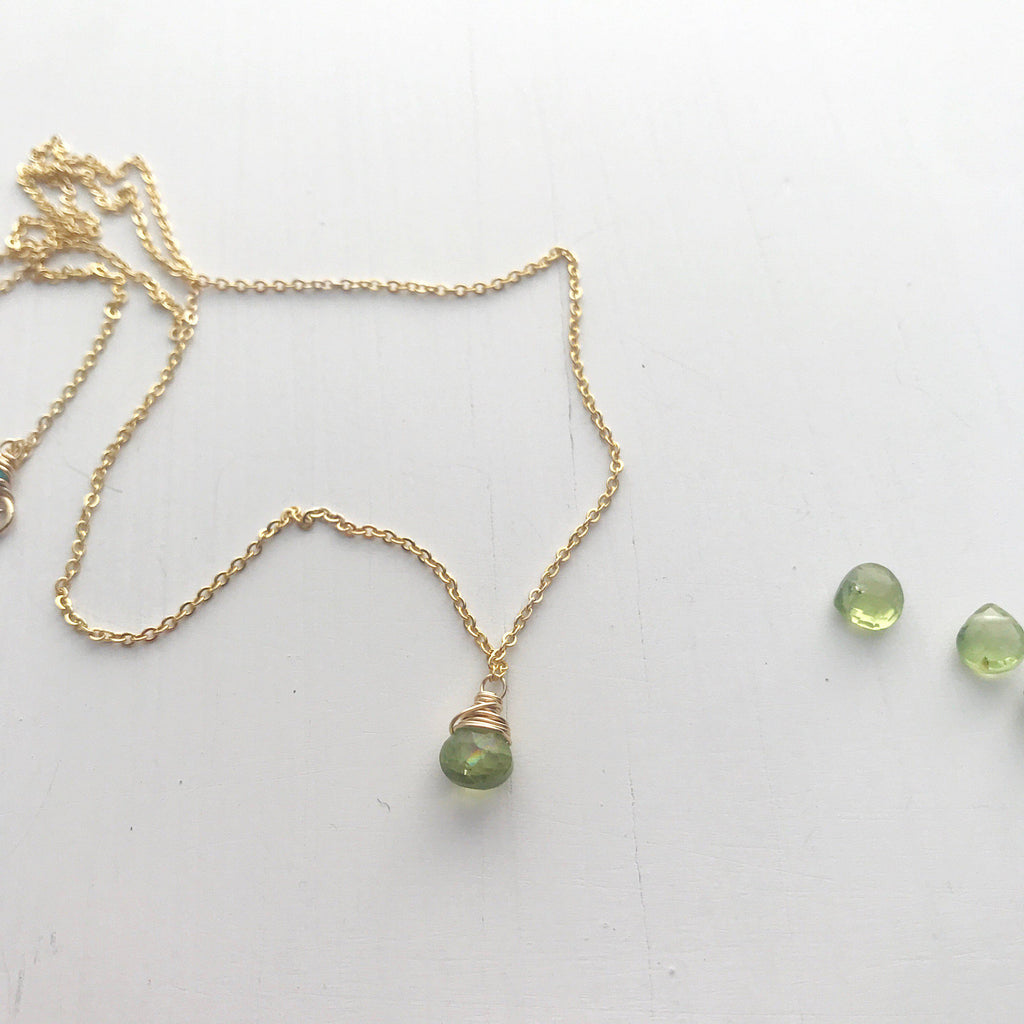 Leo Birthstone Necklace-Necklace-Betina Roza