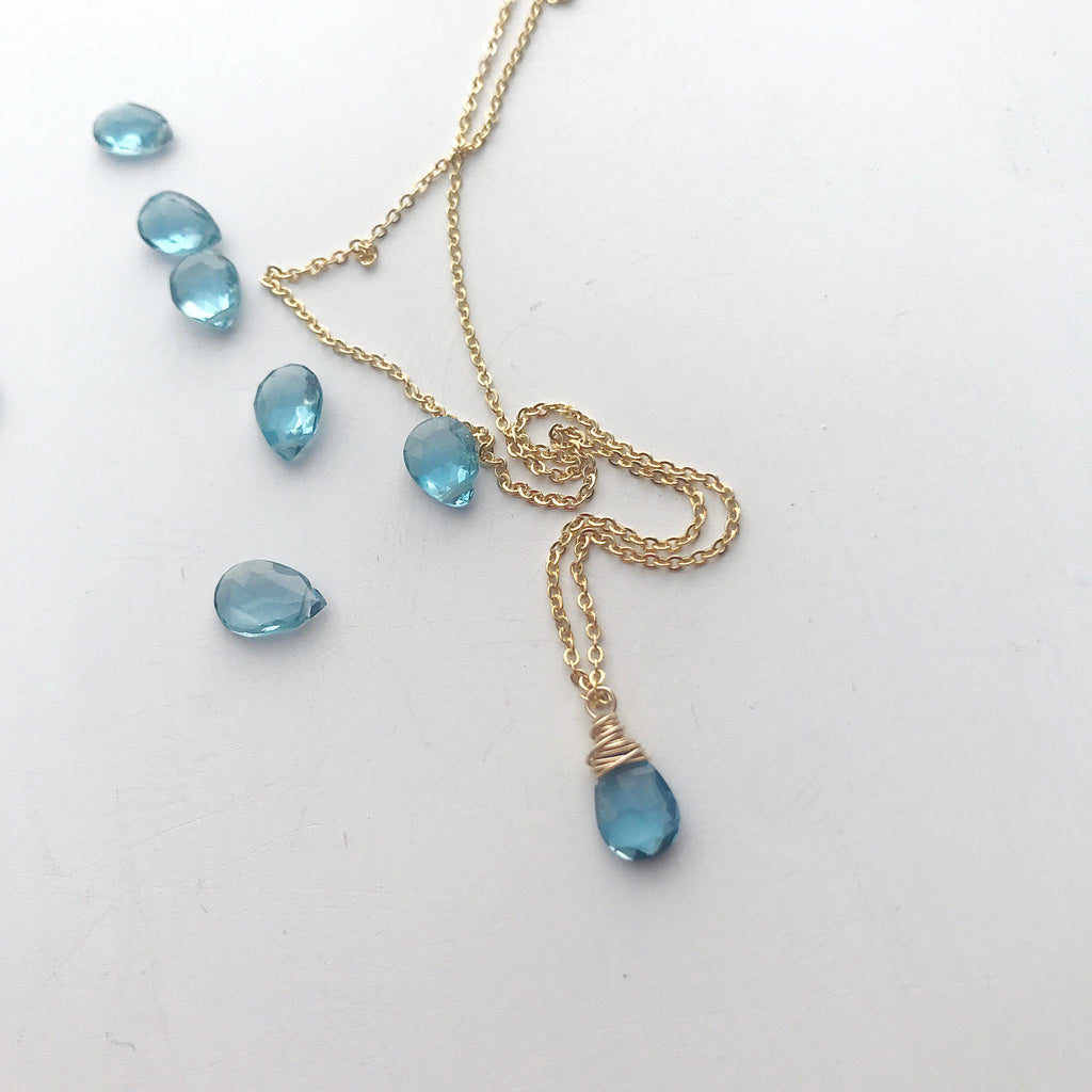 Aries Birthstone Necklace-Necklace-Betina Roza
