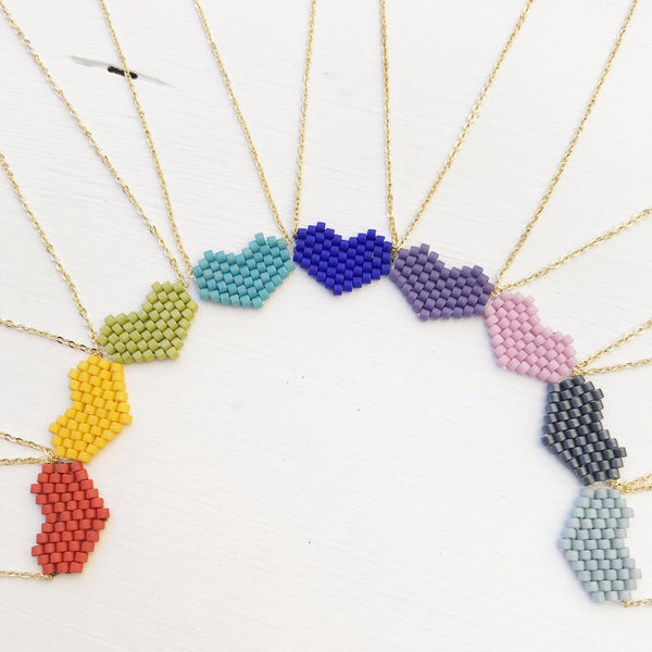 Rainbow Heart Necklaces