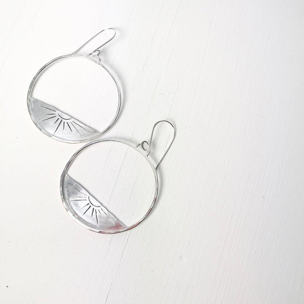 Solana Silver Sunset Earrings-Earrings-Betina Roza