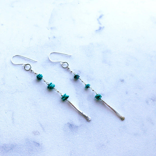 Turquoise Decent Earrings-Earrings-Betina Roza