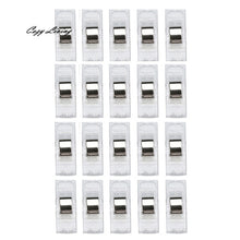 Load image into Gallery viewer, Sewing Machine Tools 20 PCS Clear Sewing Craft Quilt Binding Plastic Clips Clamps Pack  Sewing Supplies Wholesale D15