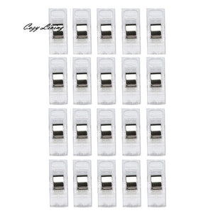 Sewing Machine Tools 20 PCS Clear Sewing Craft Quilt Binding Plastic Clips Clamps Pack  Sewing Supplies Wholesale D15