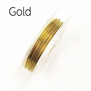 New 0.3mm Sturdy Alloy Copper Wire Beading DIYJewelry Making Wire Cord/String Accessories