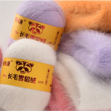 Load image into Gallery viewer, Hight quality 50G+20G Fall and Winter Plush Mink Cashmere Genuine Yarn Mink Thread Extra Soft  Warm For Hand Knitting Scarf Vest