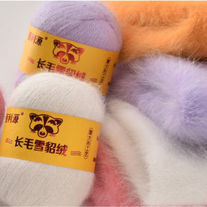 Hight quality 50G+20G Fall and Winter Plush Mink Cashmere Genuine Yarn Mink Thread Extra Soft  Warm For Hand Knitting Scarf Vest
