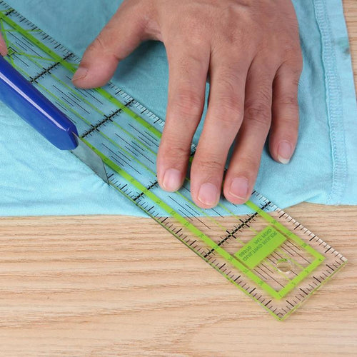 Double-color Ruler Patchwork Feet Tailor Yardstick Cutting Quilting DIY Handmade Sewing Tools stationery drawing Ruler