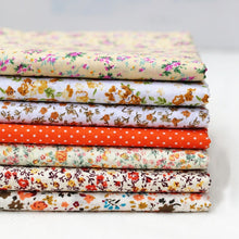 Load image into Gallery viewer, 7pcs DIY Assorted Pattern Floral Printed Patchwork Cotton Fabric Cloth Crafts Bundle Sewing Quilting 25x25cm
