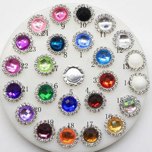 2018 New Hot 10Pcs 15mm Round Diy jewelry Accessories rhinestones pedestal embellishments caps Decoration For Making Mix Color