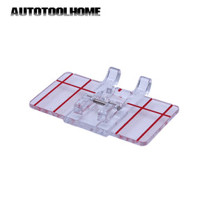 1PC Mini Clear Plastic Parallel Stitch Foot Presser for Domestic multi-purpose Sewing Machine Sew Tool