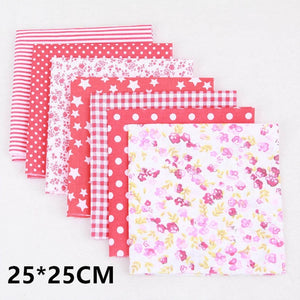 10 Colors Patchwork High Quality DIY Sewing Mixed Style Floral Print 100% Cotton Fabric Cloth Material 7 Sheet
