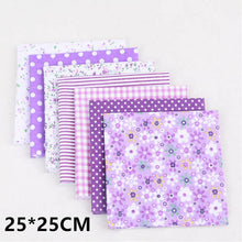 Load image into Gallery viewer, 10 Colors Patchwork High Quality DIY Sewing Mixed Style Floral Print 100% Cotton Fabric Cloth Material 7 Sheet