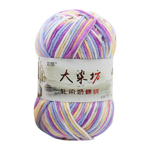 12 colors 50g double crochet milk baby soft cotton yarn hand-knitted DIY Craft Knit sweater hat scarf 2018