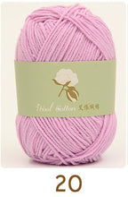 Load image into Gallery viewer, 400 gram cotton yarn soft skin-friendly hand knitting  baby  yarn,  50 gram 1 ball,8 balls, cheap express fee.