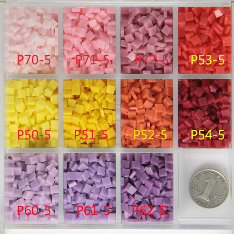 800 PCS/pack 5mm Acrylic Mosaic DIY Hobbies Craft Material. DIY Accessories, Tiny Mini Resin Mosaic Tile For Hobbies