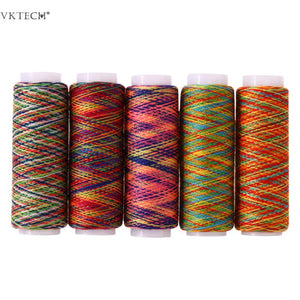 5pcs Rainbow Color Sewing Thread Hand Stitching Polyester Fiber Sewing Threads Tool Hand Quilting Embroidery Sewing Thread Lines