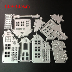 Cutting Dies Christmas House Scrapbooking Dies Metal Craft Die Cut Stamps Embossing New 2018 Card Making Decor mallen en stansen