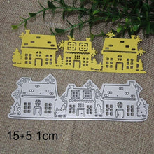 Load image into Gallery viewer, Cutting Dies Christmas House Scrapbooking Dies Metal Craft Die Cut Stamps Embossing New 2018 Card Making Decor mallen en stansen