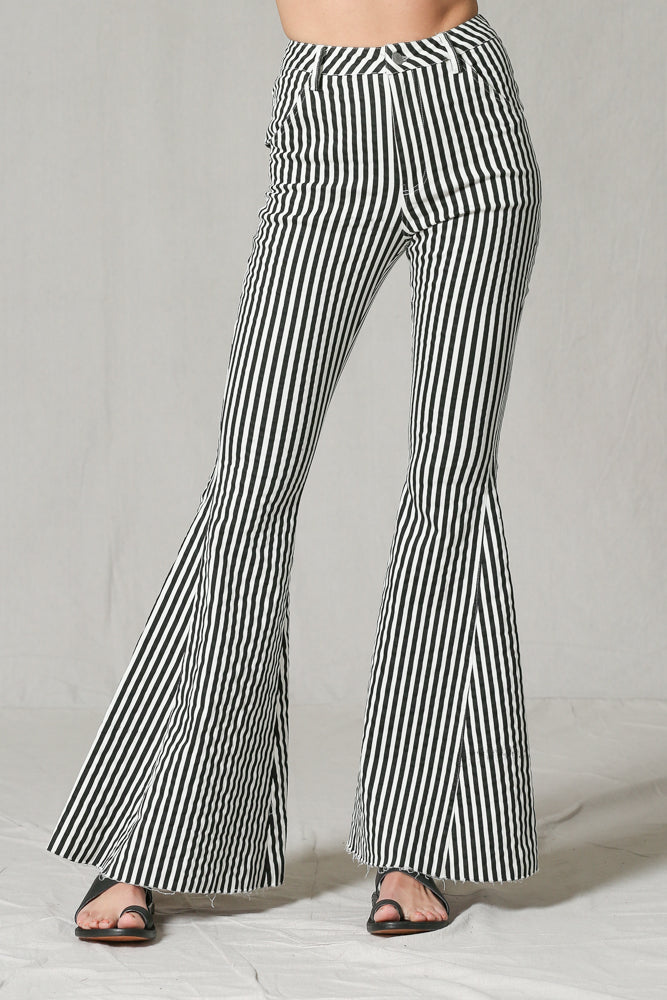 Super Flared Striped Bell Bottoms