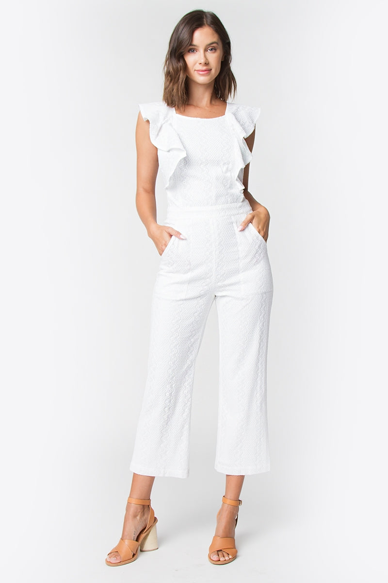 Ryan Ruffle Detail Jumpsuit