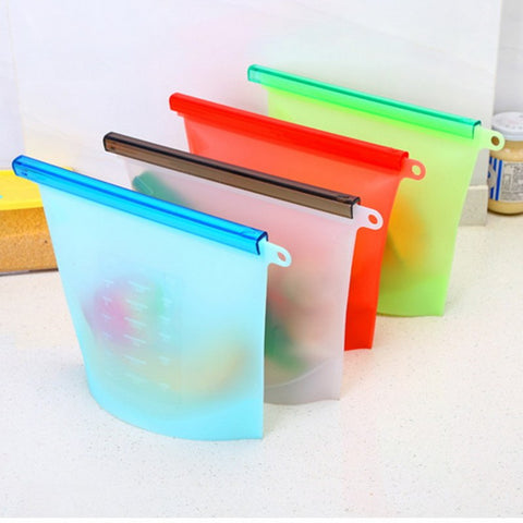 (FREE SHIPPING) Eco Friendly Silicone Reusable Food Bag