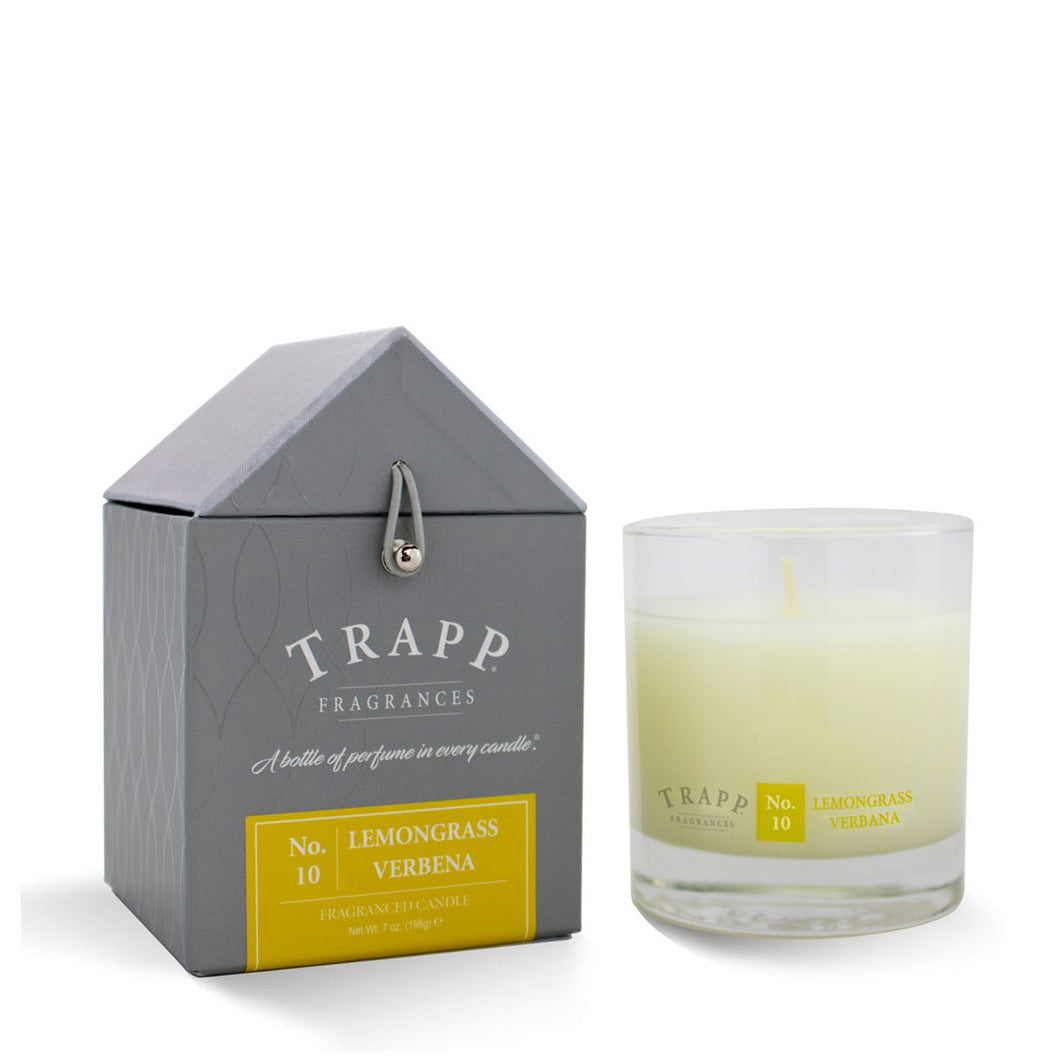 No. 10 Lemongrass Verbena Trapp Candle - Ensley Fairfield Mattress Co.