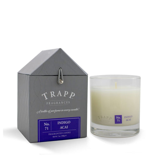 No. 71 Indigo Acai Trapp Candle - Ensley Fairfield Mattress Co.
