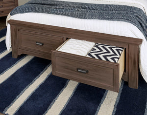 "LMCo. Bungalow Collection ""Panel Bed"" w/Footboard Storage"