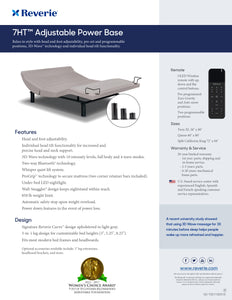 7HT (Head Tilt) Reverie Adjustable Base - Ensley Fairfield Mattress Co.