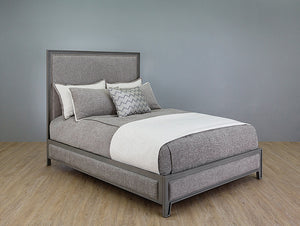 Avery - Queen Opaque Granite w/ Mixology Sterling Fabric - 1231 Quick Ship - Ensley Fairfield Mattress Co.