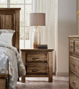 Maple Road Night Stand - 2 Drawers - Ensley Fairfield Mattress Co.