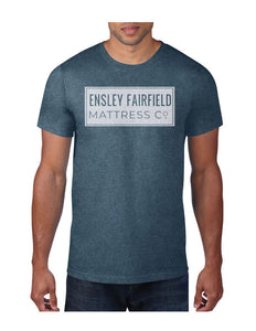 Ensley Fairfield Mattress Co. Navy Stamp T-Shirt - Ensley Fairfield Mattress Co.