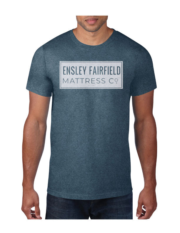 Ensley Fairfield Mattress Co. Navy Stamp T-Shirt