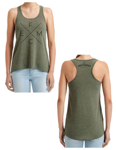 "Ensley Fairfield Mattress Co. City Green ""X"" Logo Tank - Ensley Fairfield Mattress Co."