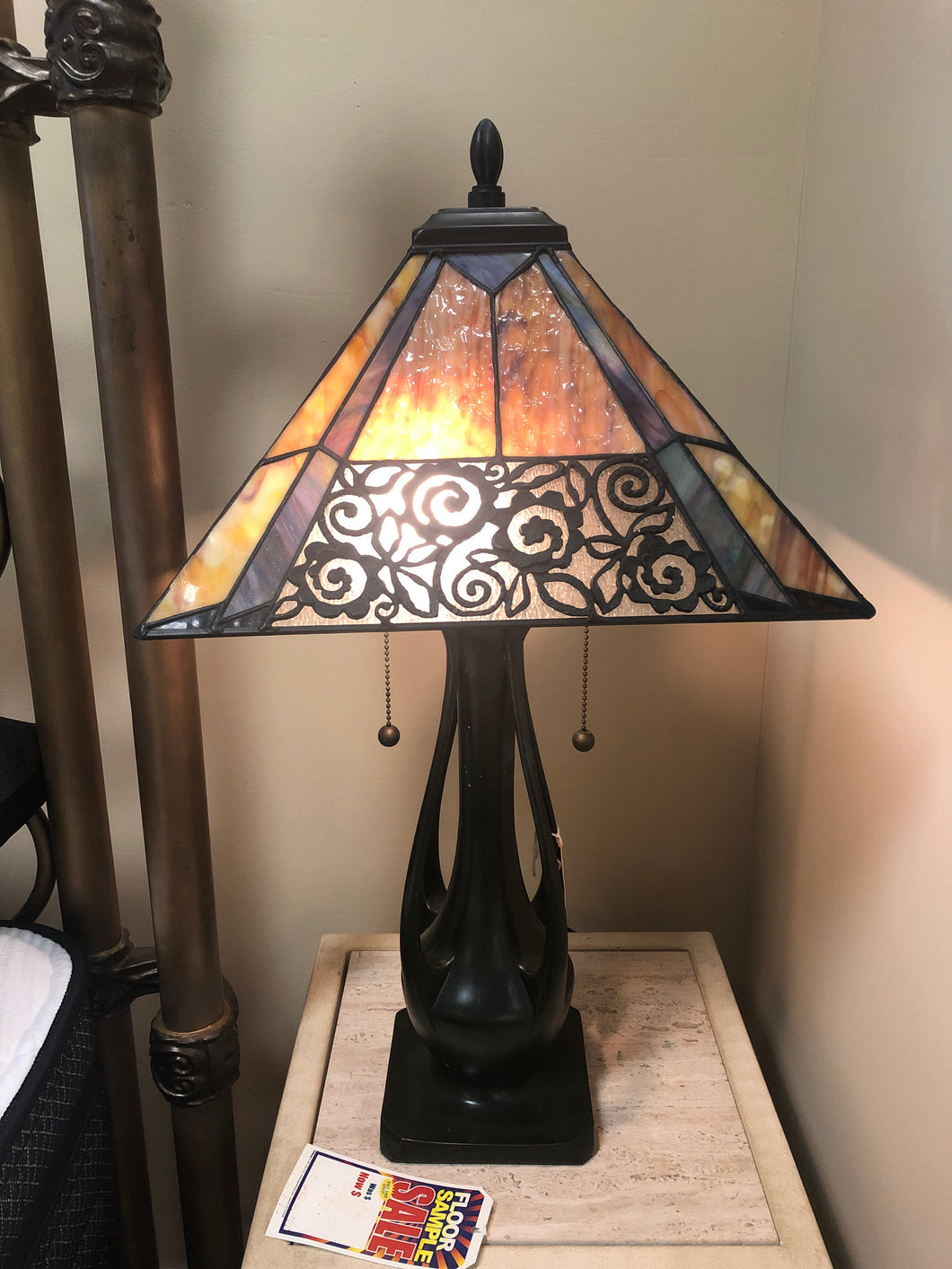 Quoizel Scroll Shade Lamp - Ensley Fairfield Mattress Co.
