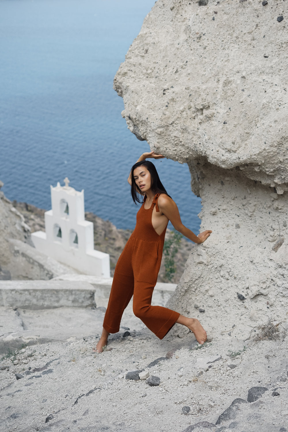 kordal hannah thornhill greece ss18 verna jumpsuit rust