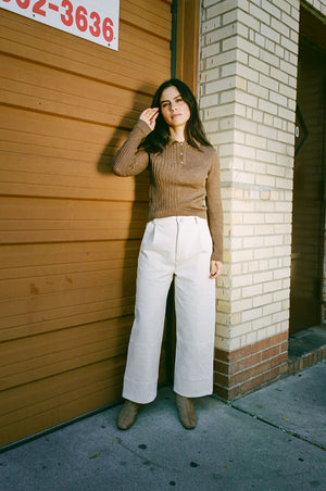 Laura Collared Sweater Chestnut