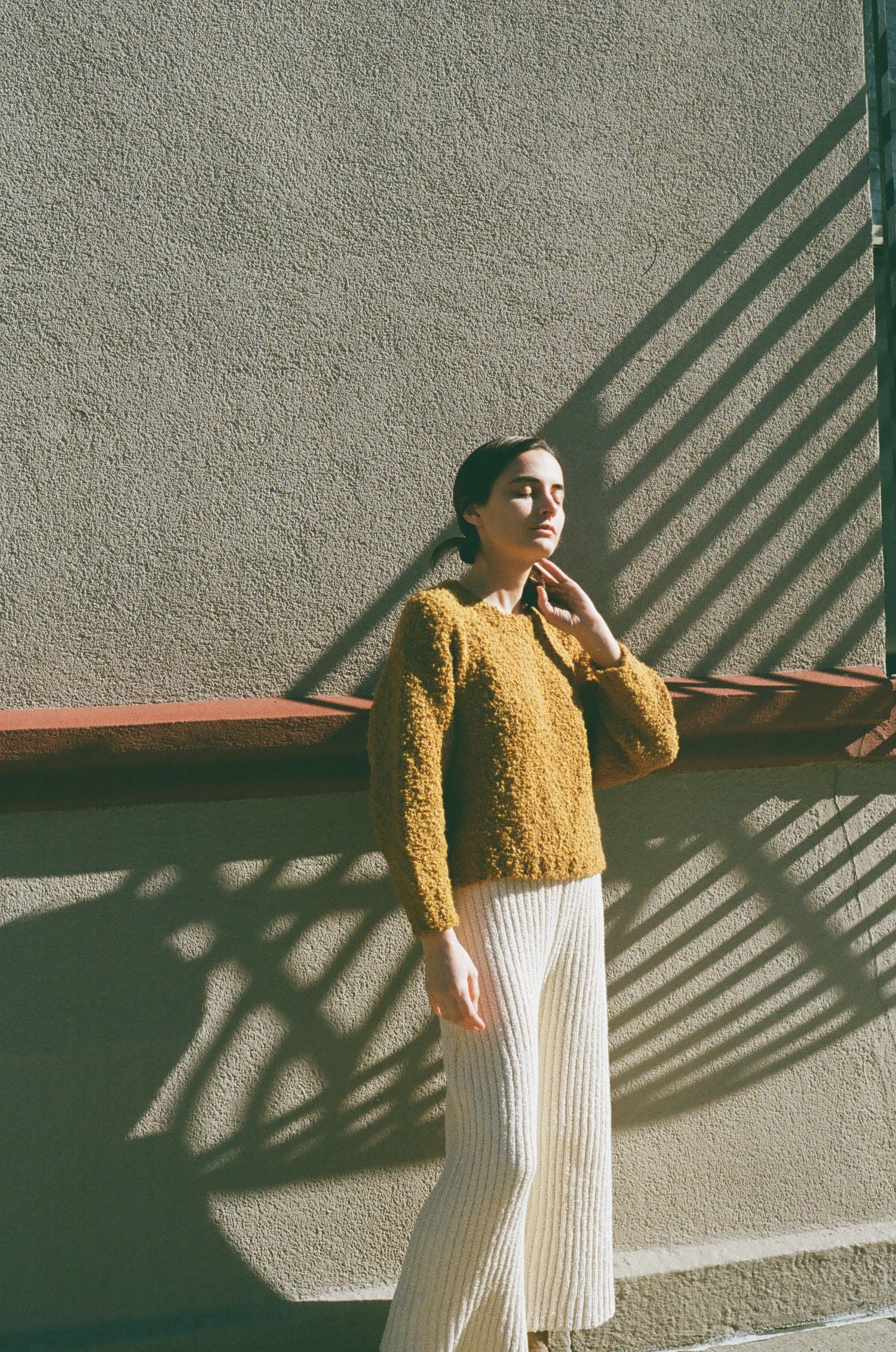 Textured Sweater Ochre grid image
